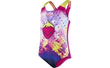 Dívčí jednodílné plavky Speedo Starfizz Essential Applique 1 Piece -  electric pink navy lime efbd6283bd