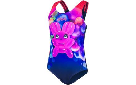 4235693df3 Dívčí jednodílné plavky Speedo Shimmer Bounce Essential Applique - navy pink