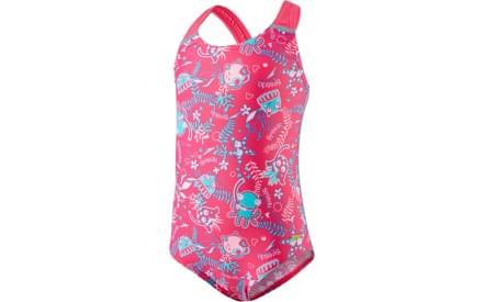 Dívčí jednodílné plavky Speedo Seasquad Allover - vegas pink pink  splash bali blue 6b11b43528
