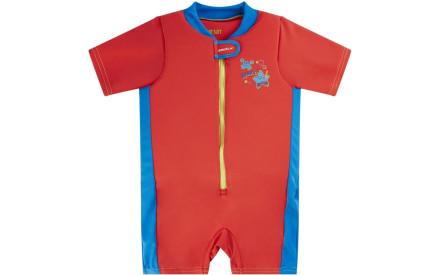 Dětský plavecký overal Speedo Seasquad Float Suit - lava red neon blue 2b9285926f