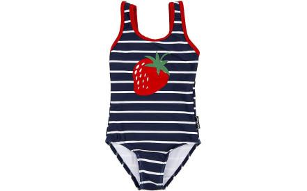 Dívčí jednodílné plavky EleMar - Navy Strawberry a74993968d