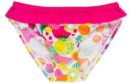 Dívčí plavky - samostatné kalhotky Losan - fuchsia yellow 825c04ea50