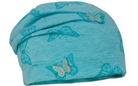 c5d9a171983 Dětská čepice Maximo Kids Girl - turquoise butterfly