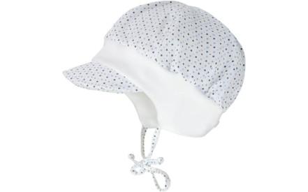 2c87c559616 Dětská čepice Maximo Baby Boy cap with visor - white dots