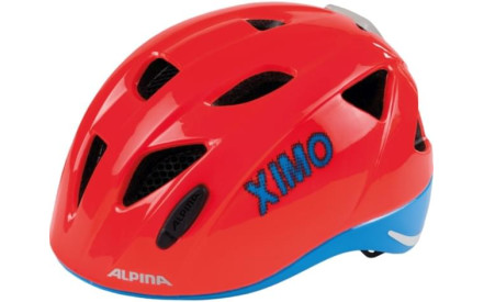 Dětská cyklistická helma Alpina XIMO Flash - neon red-blue 5a49505190e