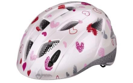 Dětská cyklistická helma Alpina XIMO - white hearts 6bec13ab134