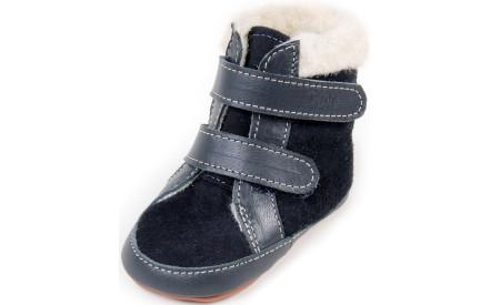 Dětské barefoot první botičky Dulis Baby Eco - tmavomodrá pohádka c254f7c8d0