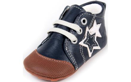Dětské barefoot první botičky Dulis Baby Eco - tmavomodré hvězdy 582510de4e