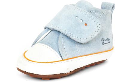 Dětské barefoot první botičky Dulis Baby - bleděmodré obláčky c9d4926dc4