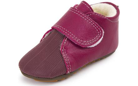 Dětské barefoot první botičky Dulis Baby - Cranberry bbdecc23d6