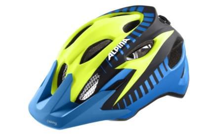 Dětská cyklistická helma Alpina Carapax Jr. Flash - blue-yellow-black c2d235304eb