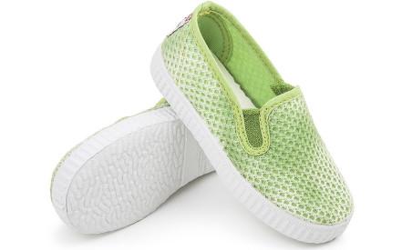 Dětské botičky Cienta Cangrejo 2Elasticos Brunen - verde ecfad2d255