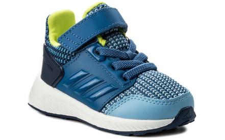 a535b601913 Dětské boty Adidas RapidaRun EL I - ash blue trace royal noble indigo