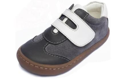 Dětské barefoot první botičky Dulis Go Play - šedobílá podívaná c82ca694fd