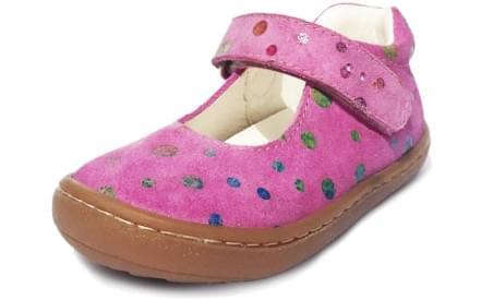 Dětské barefoot první botičky Dulis Go Play - růžový pohádkový sen b8ad975592