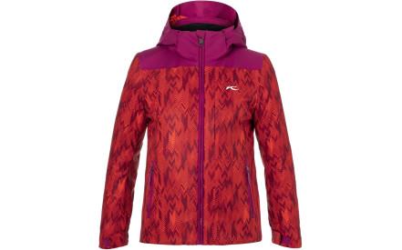 Dívčí lyžařská bunda Kjus Girls Surface Jacket - purple berry-fiery red 07a2b2e27e
