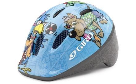 Dětská cyklistická přilba Giro Me2 Light Blue Animals 4eb453b2ee2