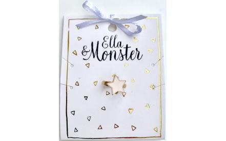 Dětský prstýnek Ella   Monster– Růžová hvězda d968febf82