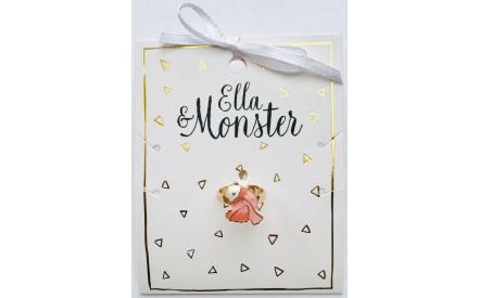 Dětský prstýnek Ella   Monster – Růžový ptáček dd2e1873c3