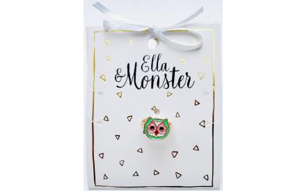 Dětský prstýnek Ella   Monster – Sova c6e4c83617