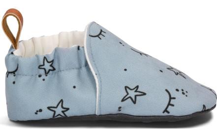 Dětské látkové barefoot capáčky Loui   Me - blink blink grey 4be187679d