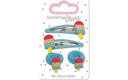 Dětské sponky a gumičky do vlasů Spiegelburg - zmrzlina e2644bd79e