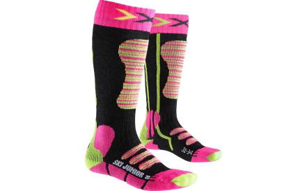 Dětské lyžařské ponožky X-Socks Ski Junior Socks - Fuchsia Yellow f60a82e90a
