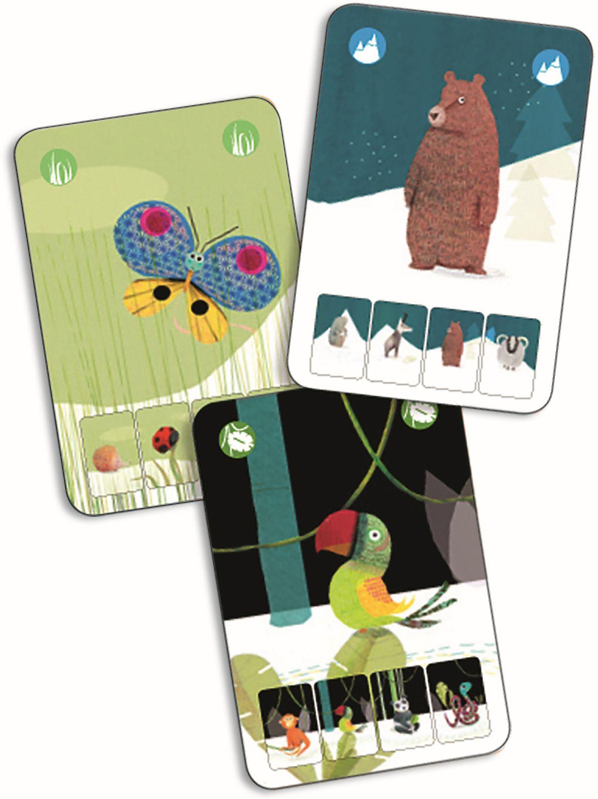 Karetní hra Djeco - kvarteto zvířátka Djeco
