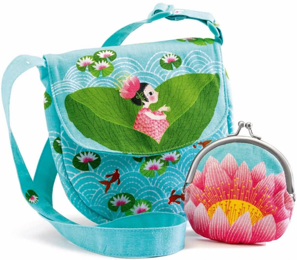 Set kabelky a peněženky Djeco - v leknínu - Skibi Kids 26344addf1