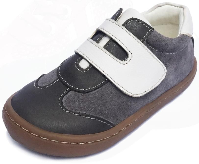 ee40d1cafe3 Dětské barefoot první botičky Dulis Go Play - šedobílá podívaná ...