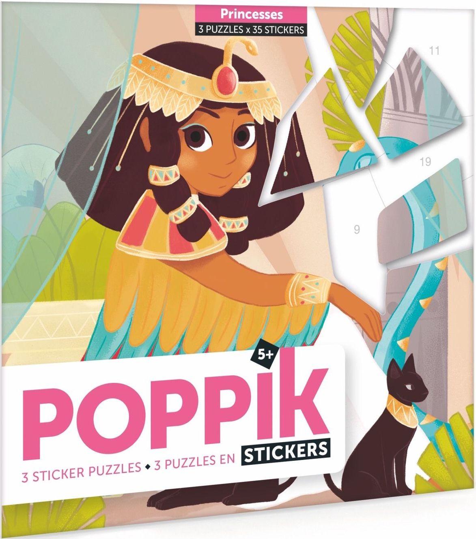 Poppik Samolepkové puzzle-Princezny