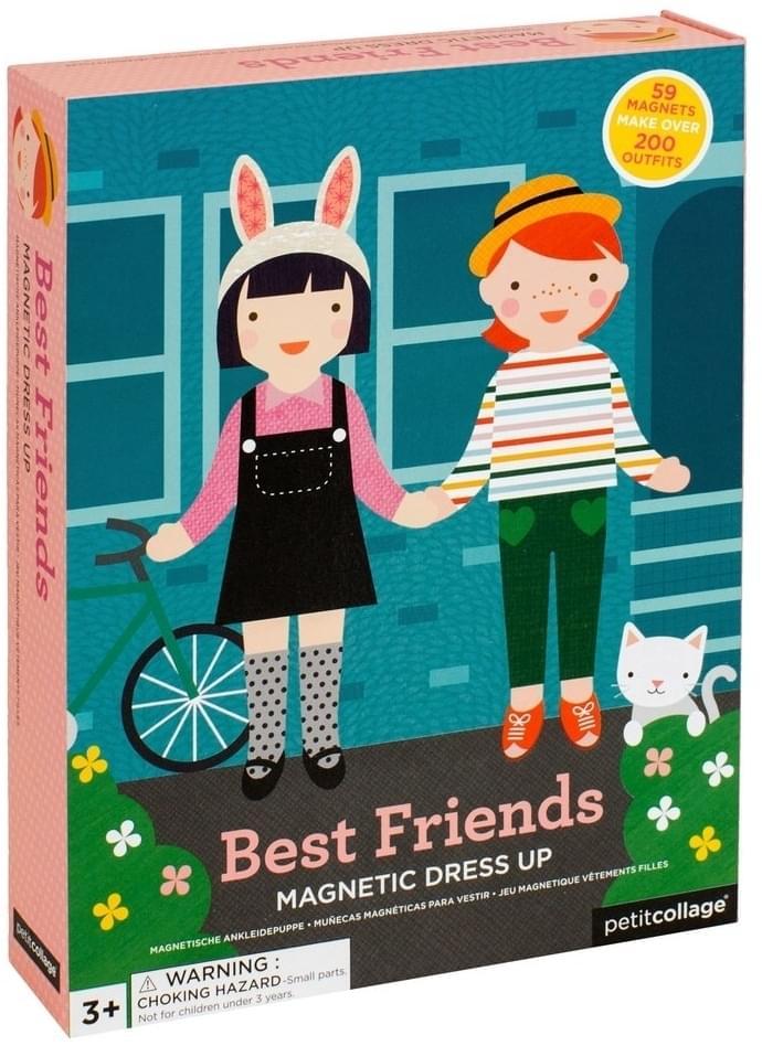 Dětská hra magnetické oblékání Petit Collage - nejlepší kamarádky ... a48e9e6b41a