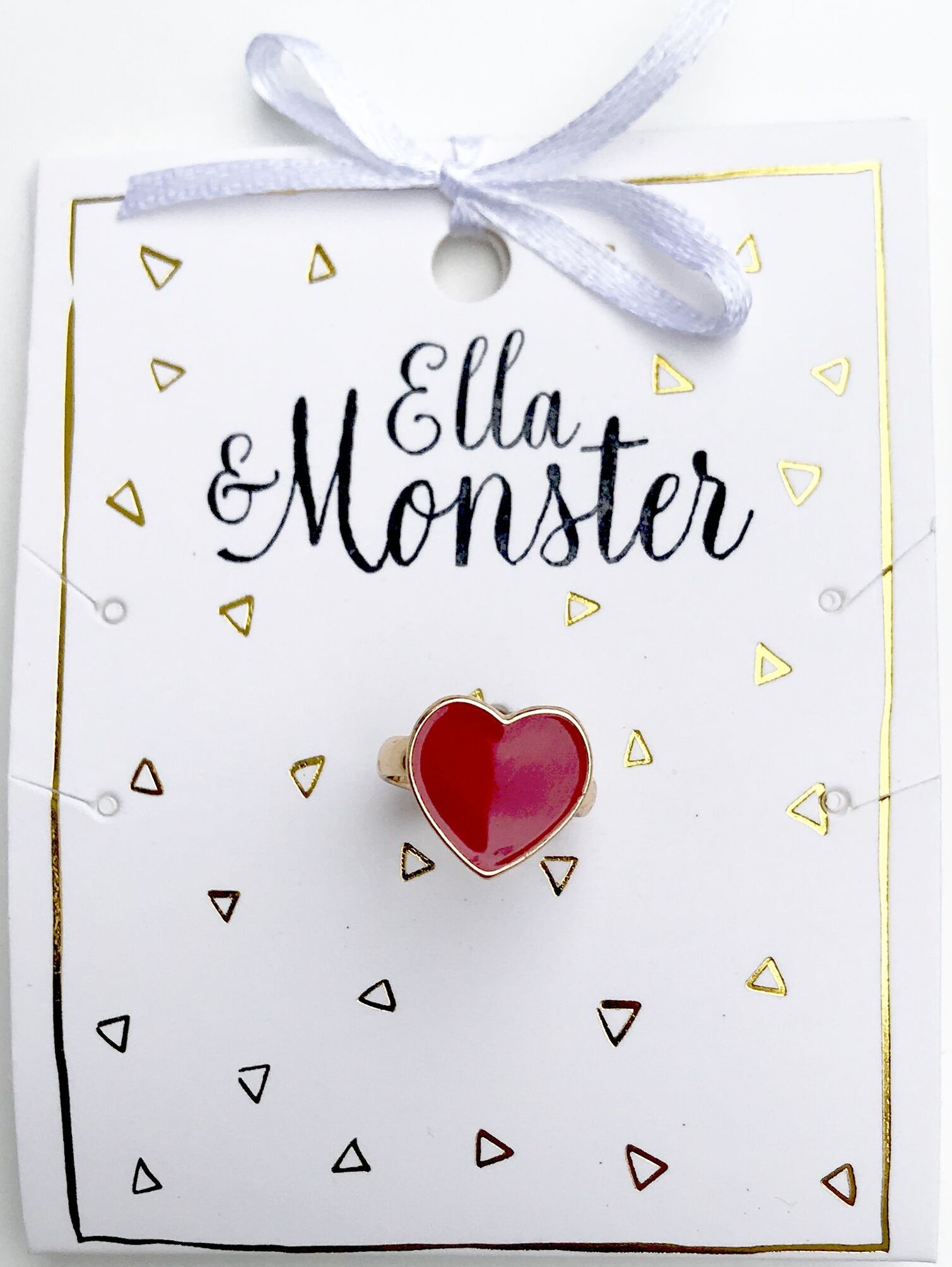 Ella&Monsters Ring Red Heart